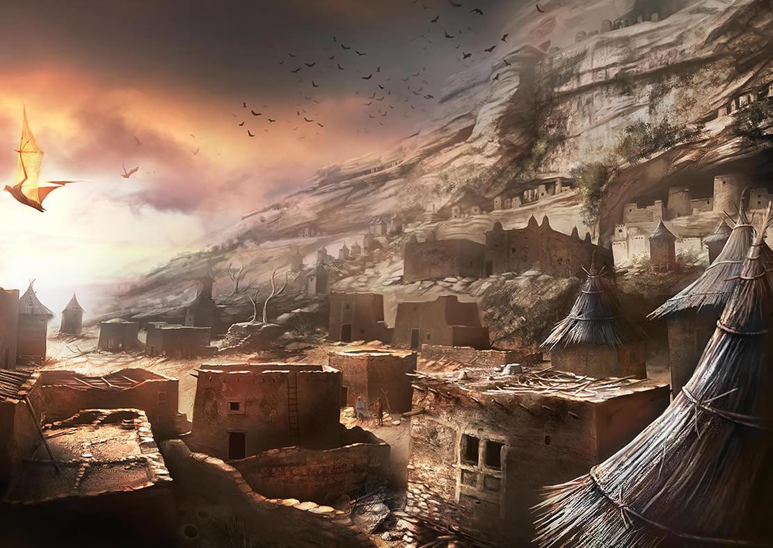Dogon Village By Viag Coolvibe Digital Artcoolvibe
