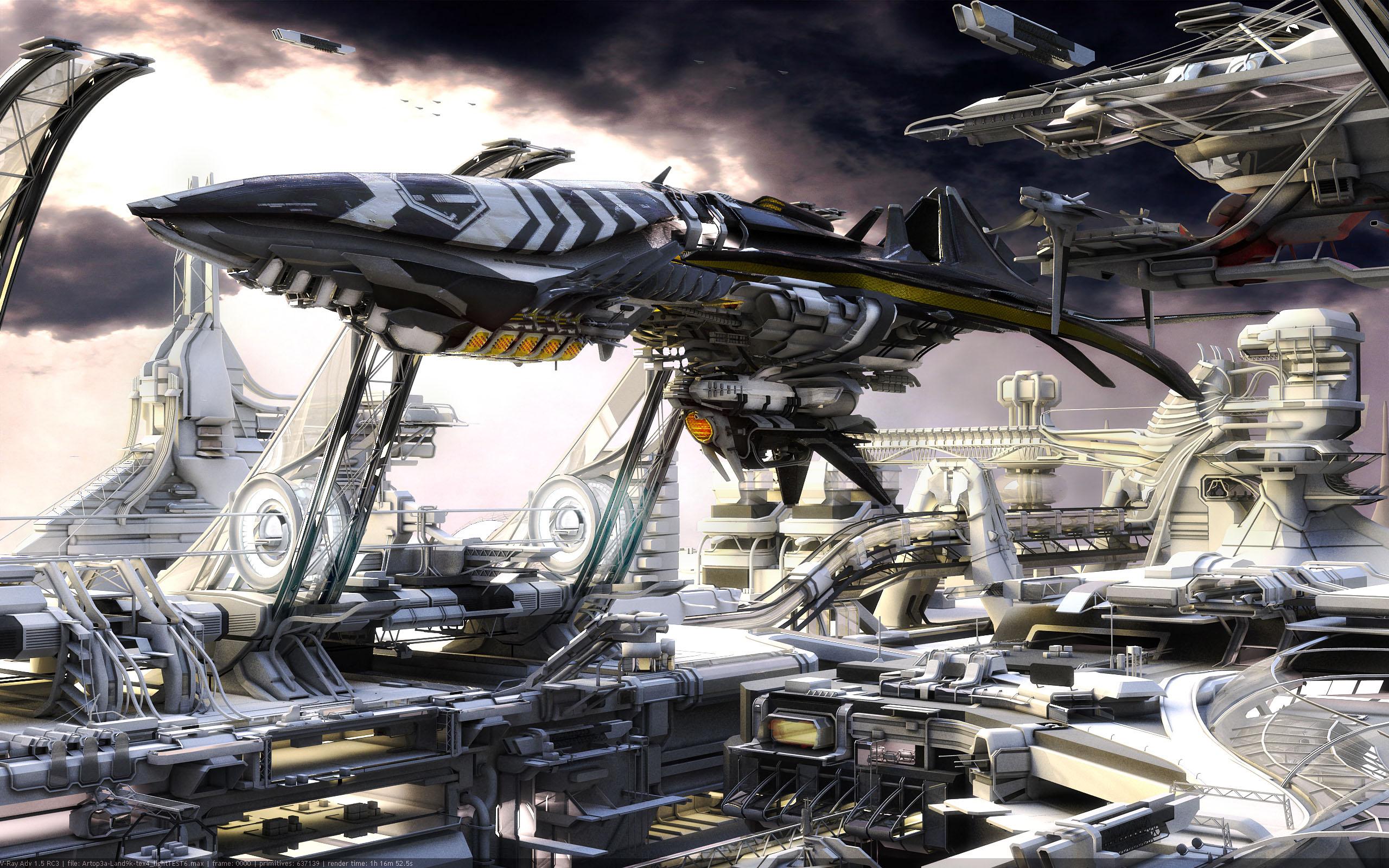 迫力のある宇宙船