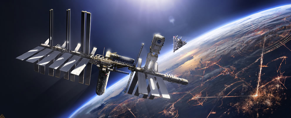 Tweet posted in 3d space tags futuristic space station related posts