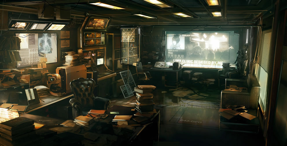 Deus Ex 3 Office - Concept art, VideogamesCoolvibe ...