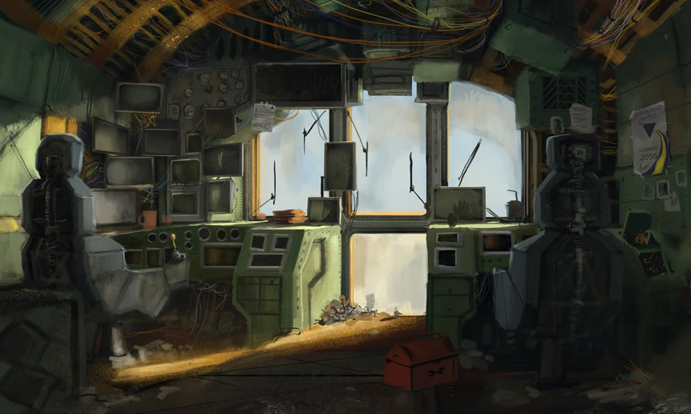 gallery for sci fi room concept art