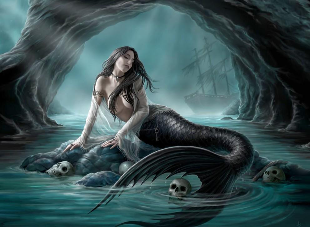 Dark Mermaid Art darkIronshodmermaidsocean