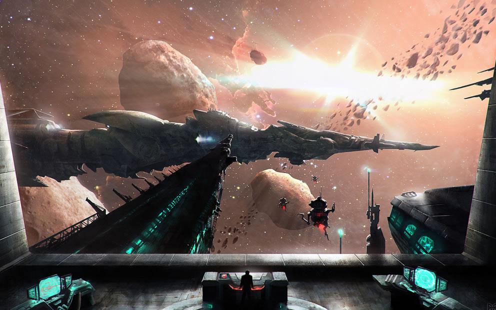 single person bridge sci fi spacecraft - photo #21