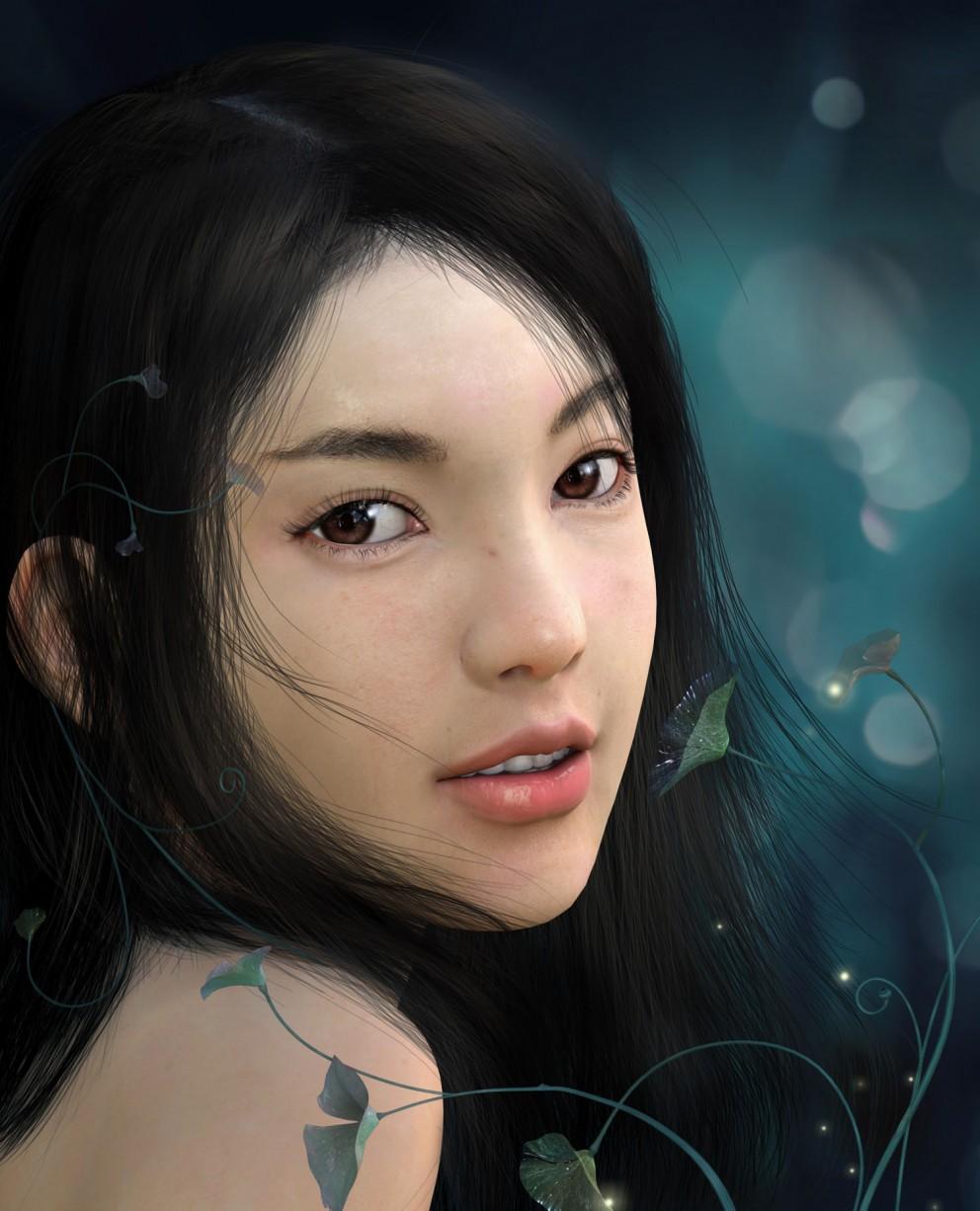 Pastel Beauty Art Cg Woman Asian Girl Ultra 3840x2160 Hd