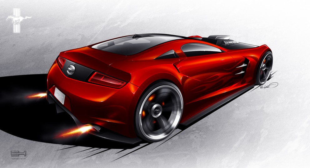 Ford Mustang Concept Rear By Emrehusmen Coolvibe
