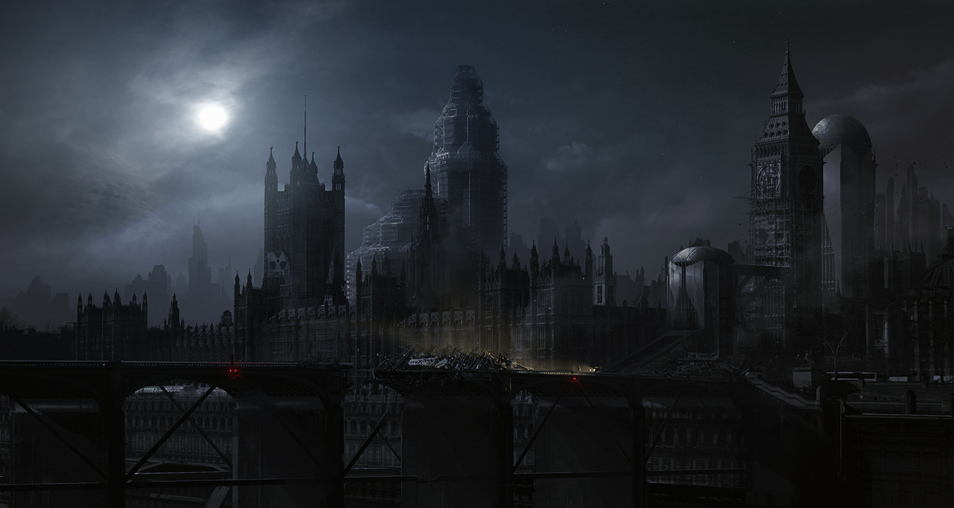 London 2063 After Midnight Scenery Landscapes Sci