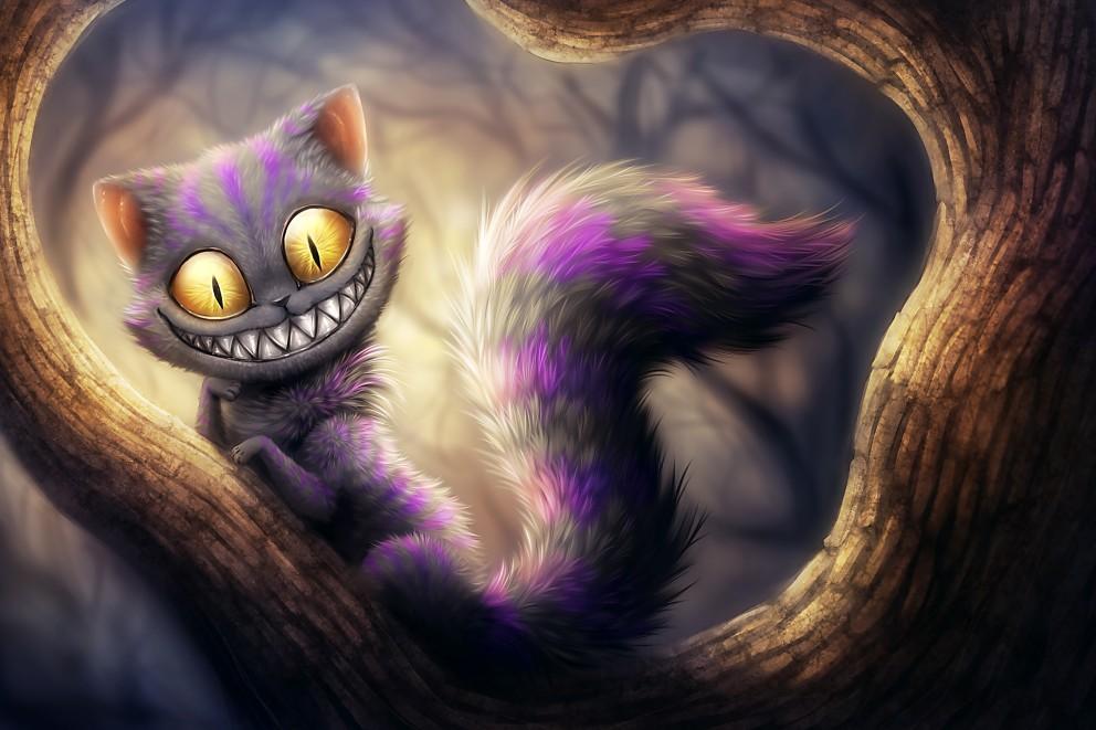 cheshire cat illustrations moviescoolvibe digital art