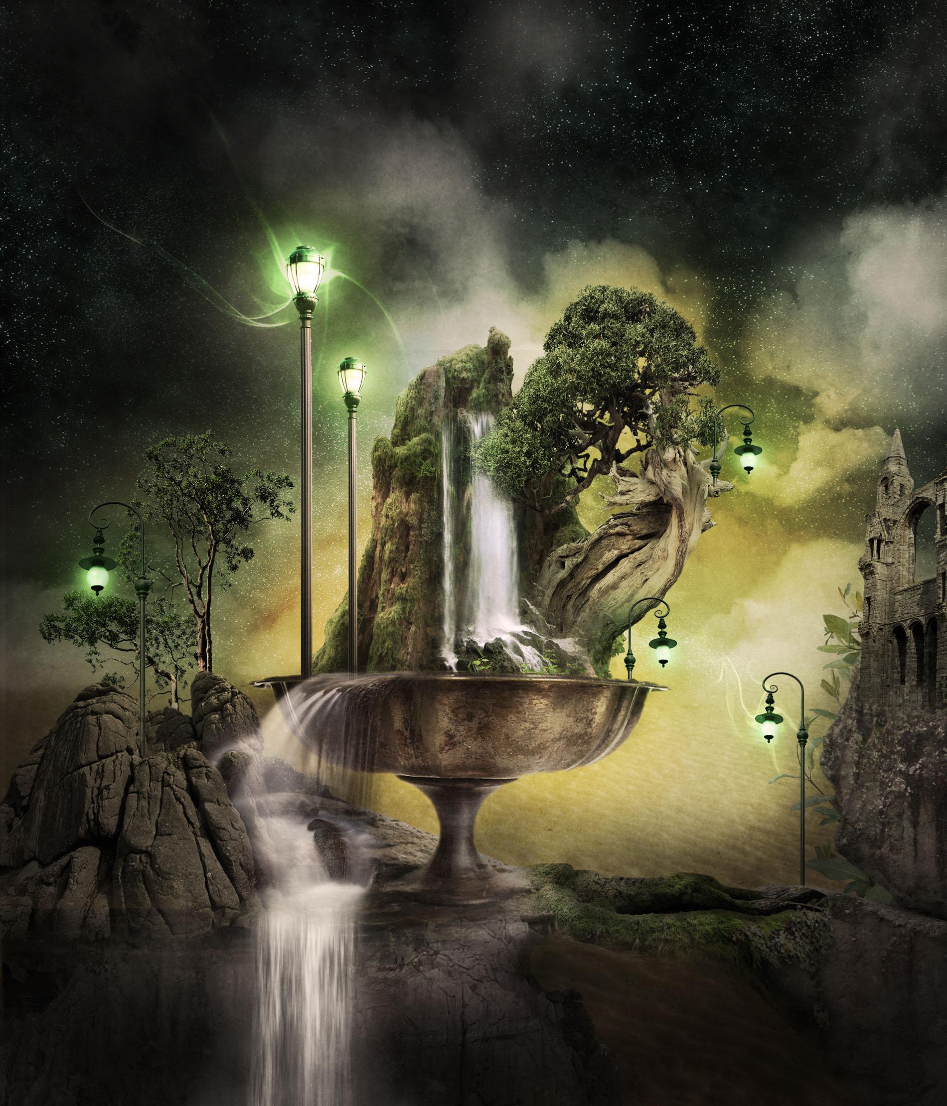 Fantasy Landscape Wallpaper: Concept Art, Scenery