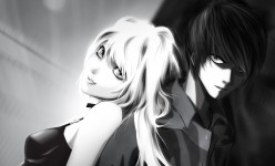 anime_wallpaper_black_white_love