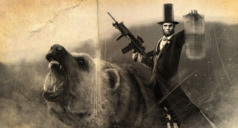 Abe Lincoln Riding a Grizzly - Political