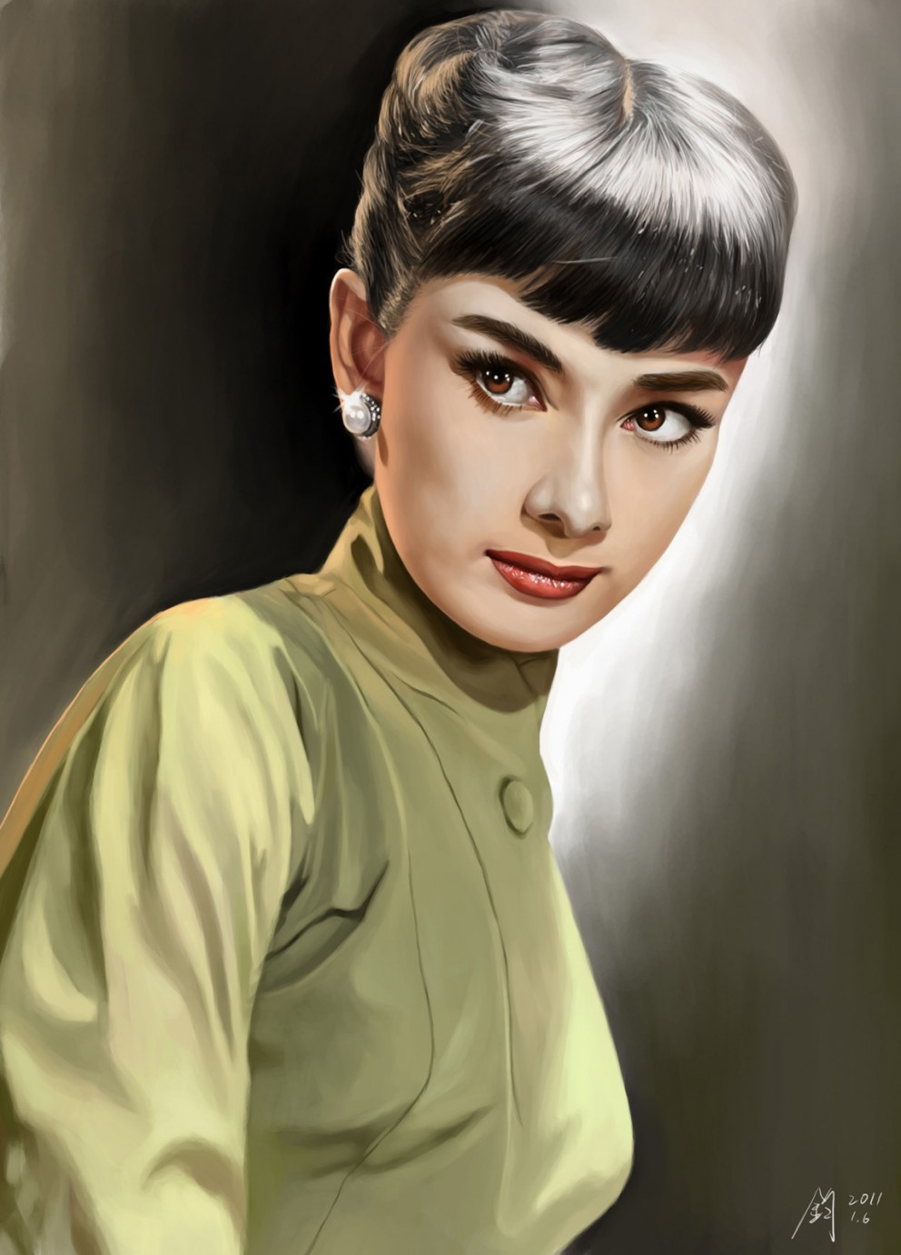 audrey hepburn - digital paintings, movies