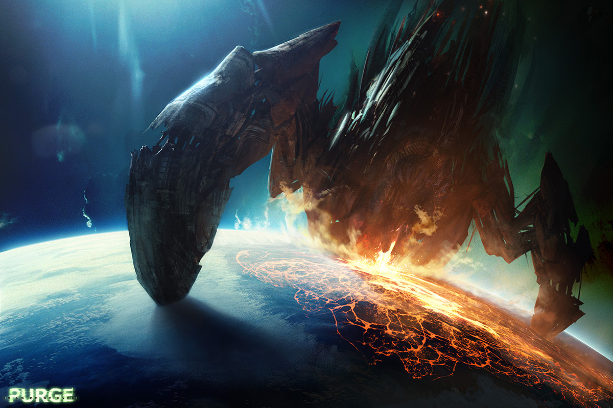 Purge: Red Hand - Sci-fi, SpaceCoolvibe – Digital Art