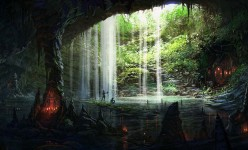 Cave Interlude - Fantasy Art