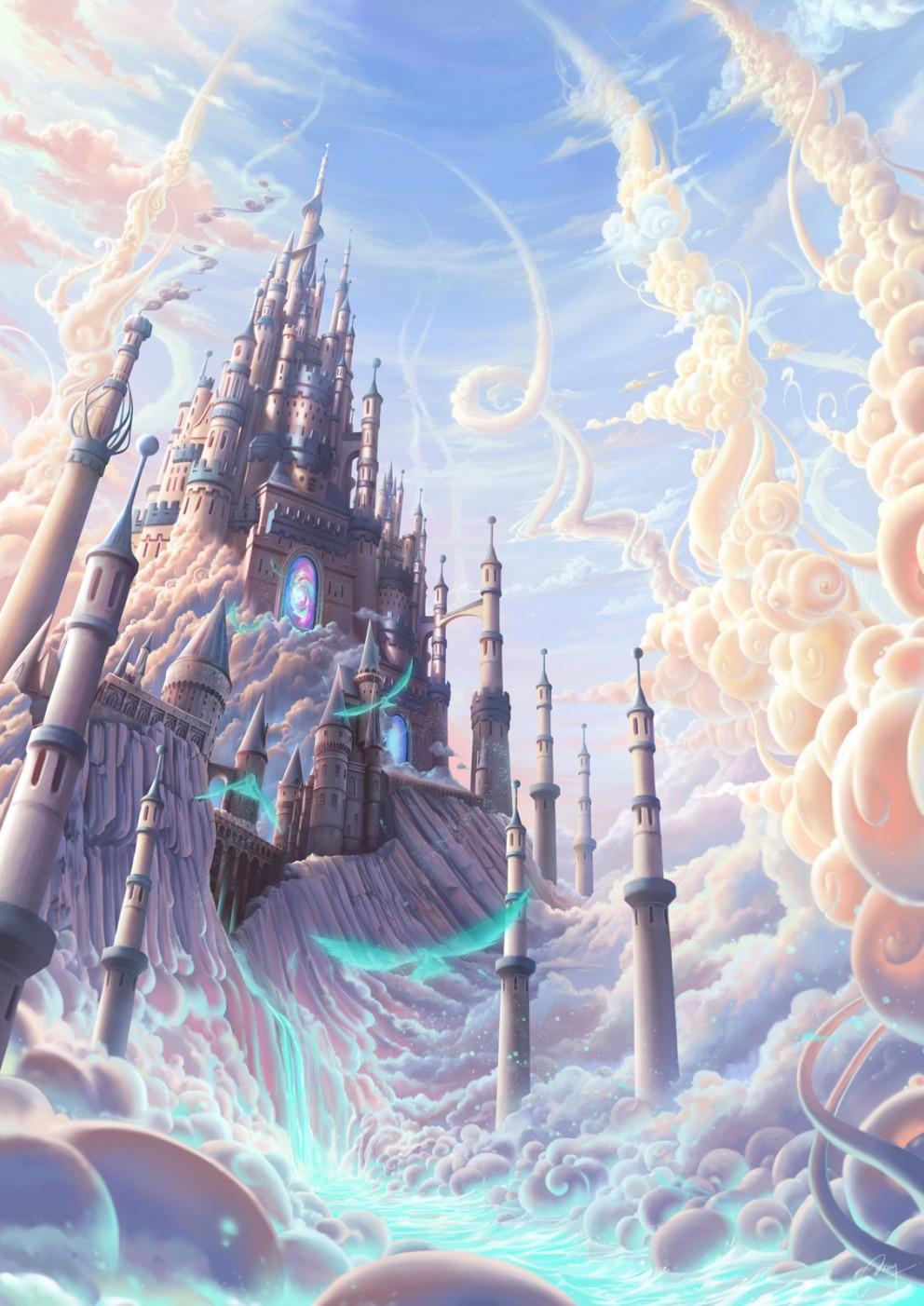 landscapes castles fantasy art - photo #32