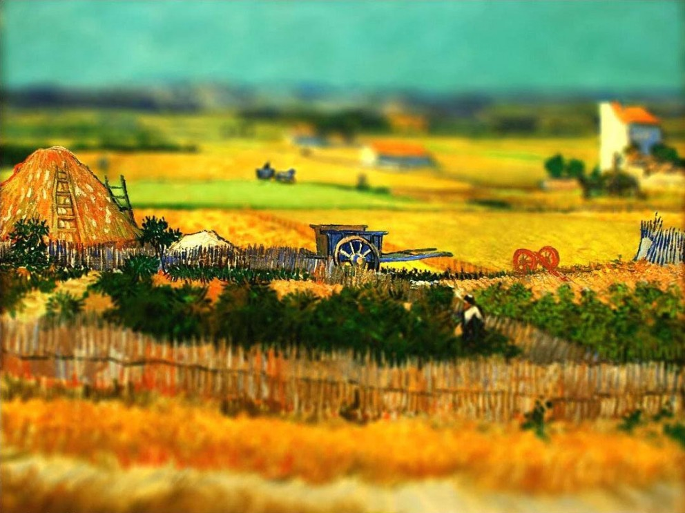 16 Van Gogh Paintings Tilt-Shifted
