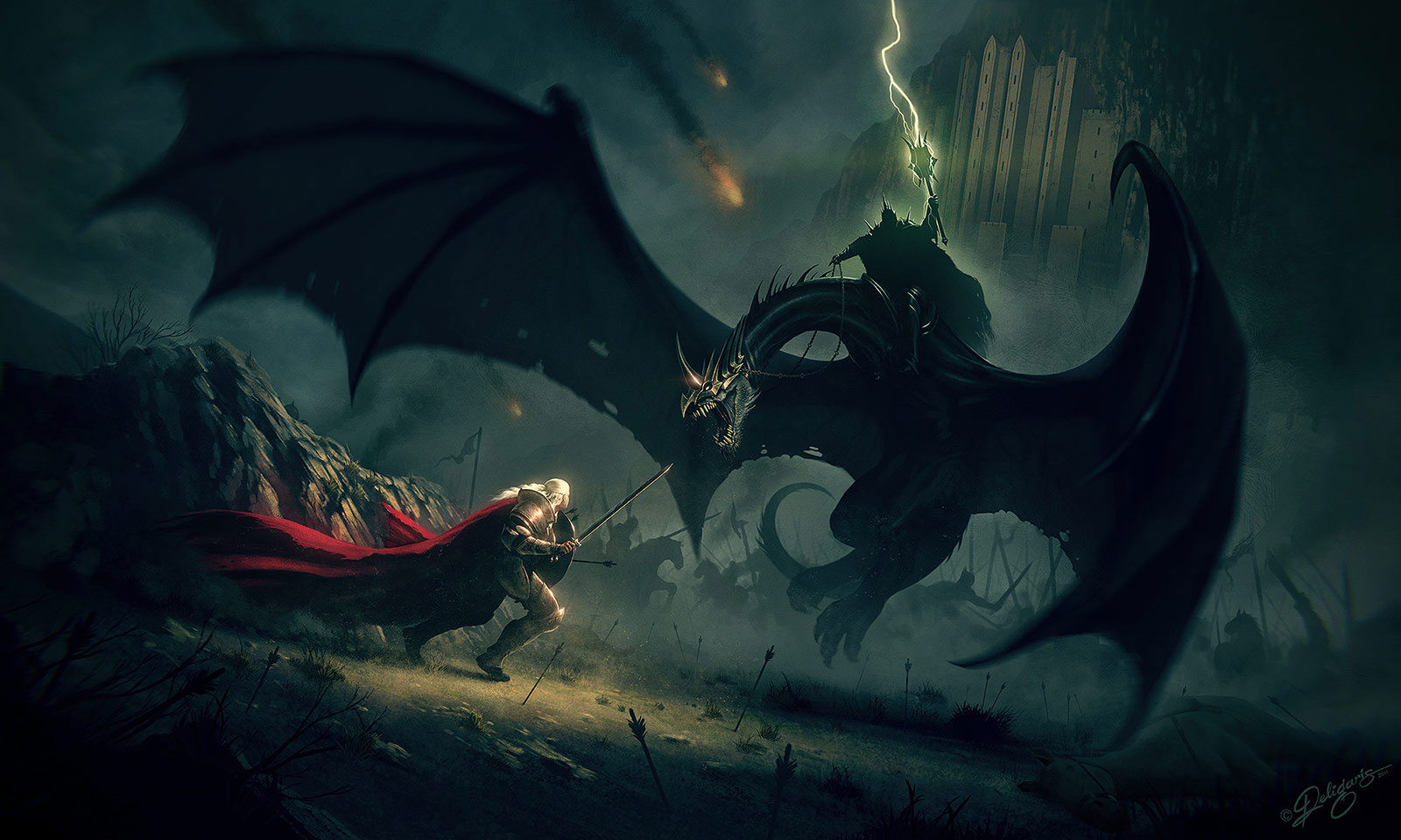 Lord Of The Rings Eowyn And Nazgul