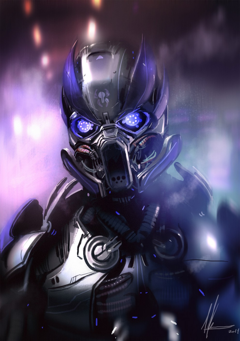 Robot metal concept art sci ficoolvibe digital art for Concept metal