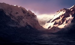 snowy-sunrise