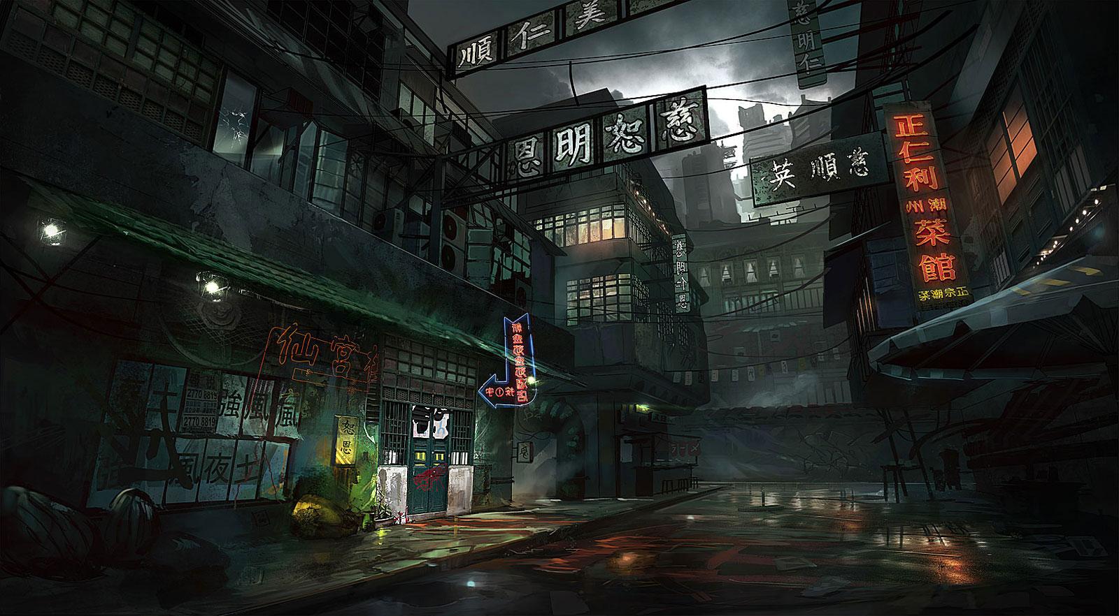 king tong street   digital paintings illustrations