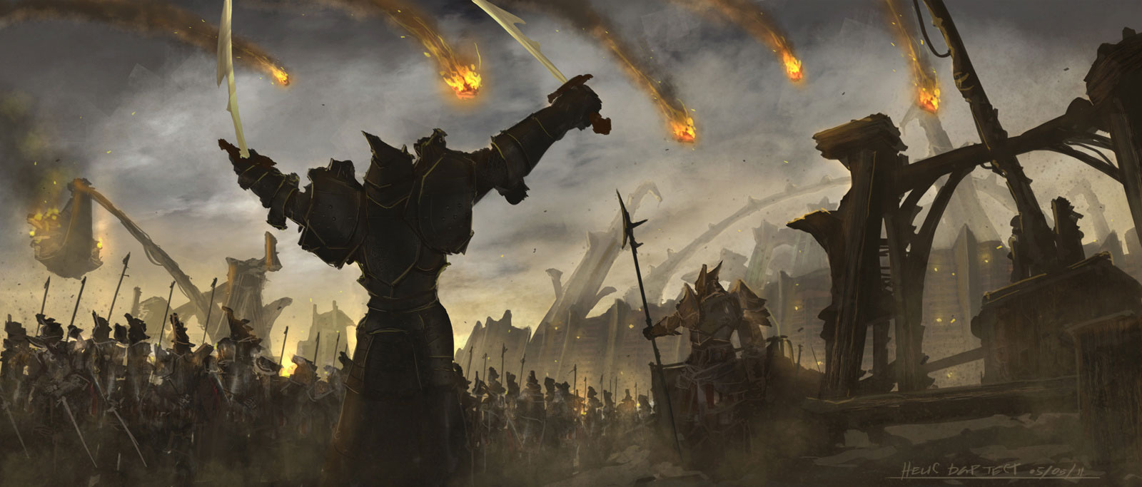 Epic Battle Scene Wallpaper  - Battle Scene