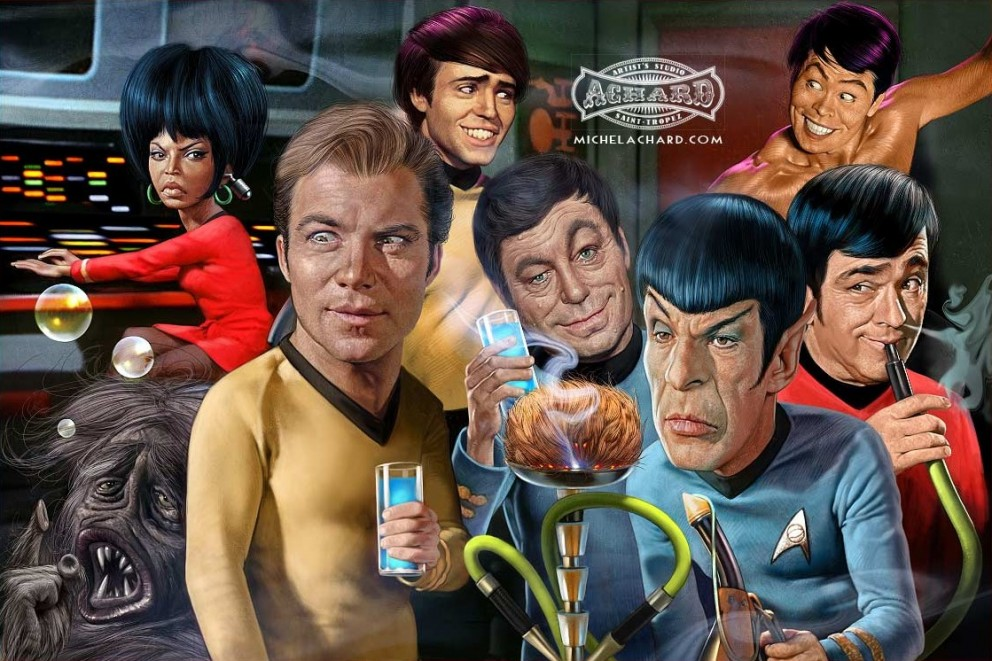 Star Trek Caricature Illustrations Movies Sci