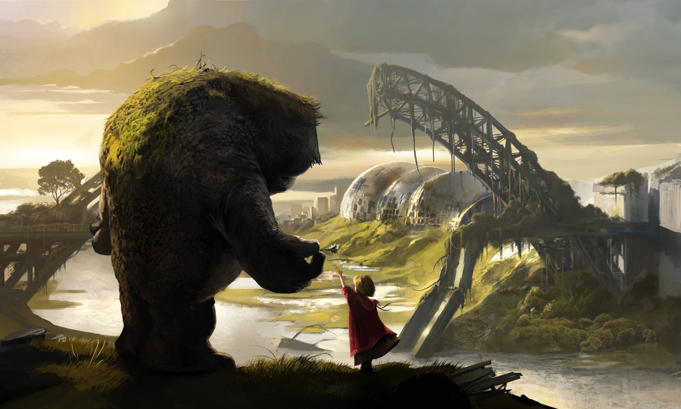 The Gentle Giant - Digital paintings, Fantasy, Scenery/Landscapes, wallpaperCoolvibe – Digital Art