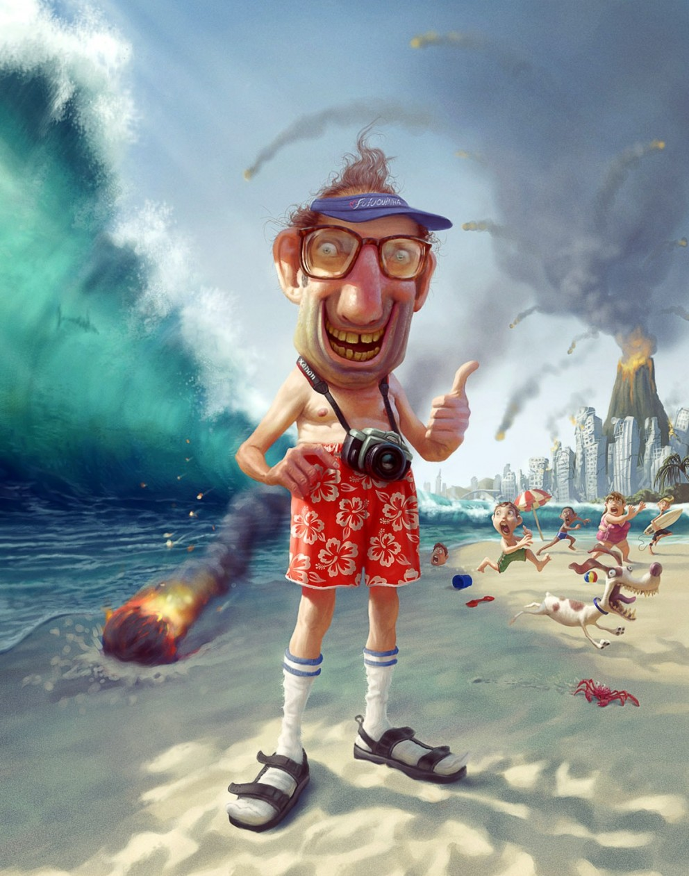 illustration cartoon Tiago Hoisel