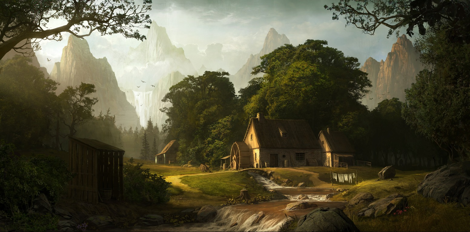 digital paintings scenery - photo #4