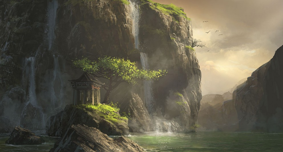 digital paintings scenery -#main
