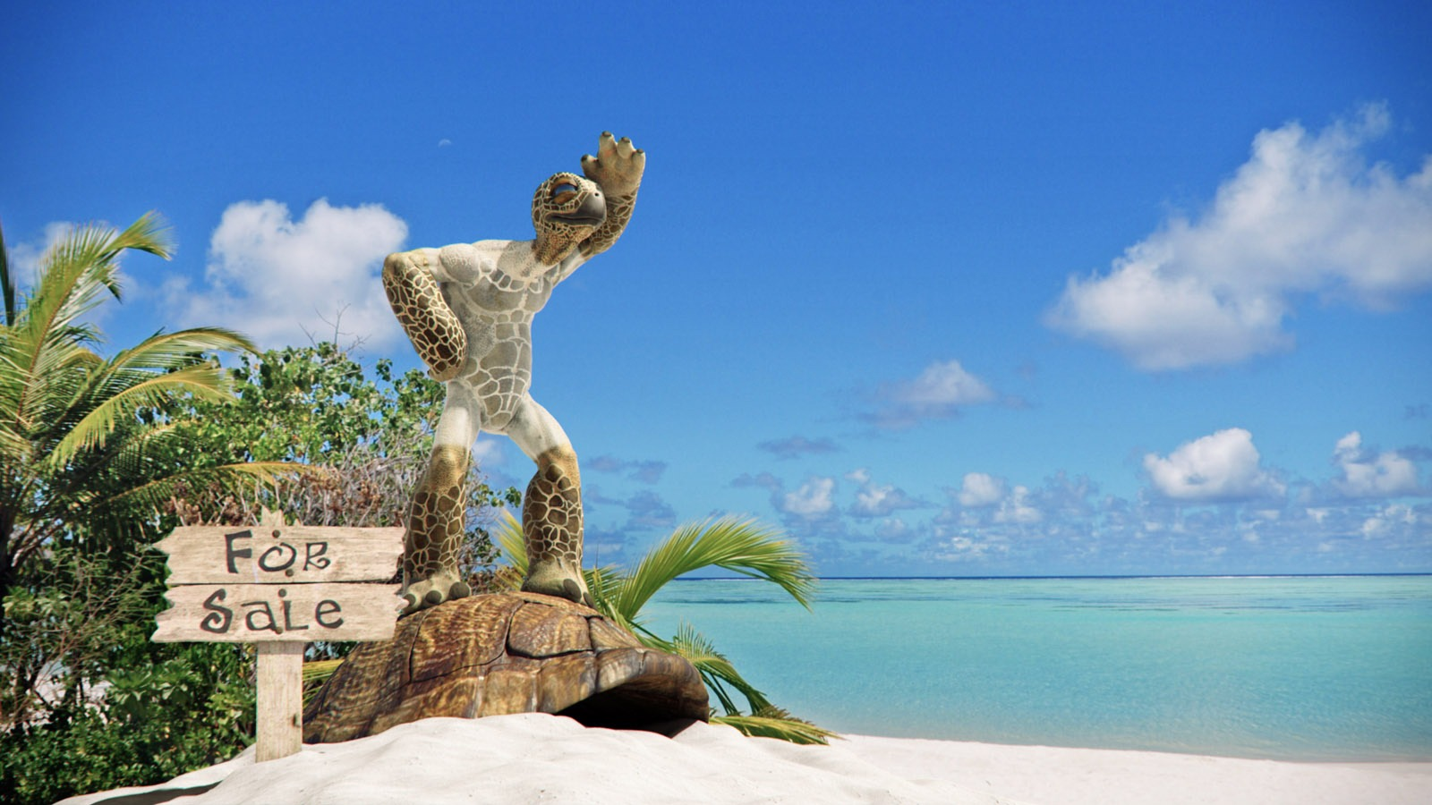 Turtle Freedom For Sale 3d Illustrations Scenery