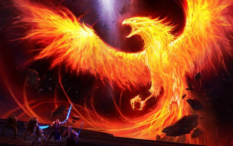 Painting Art Phoenix Fire Fantasy Digital Drawing: Coolvibe - Digital ArtCoolvibe – Digital Art