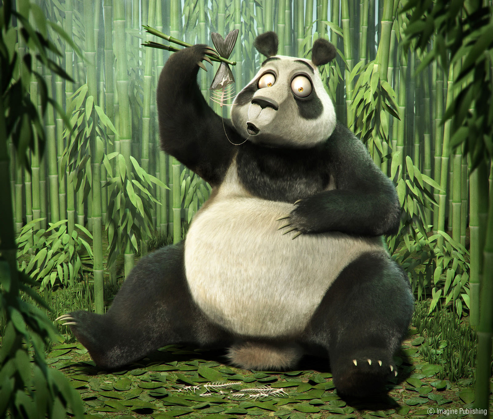 illustration cartoon panda
