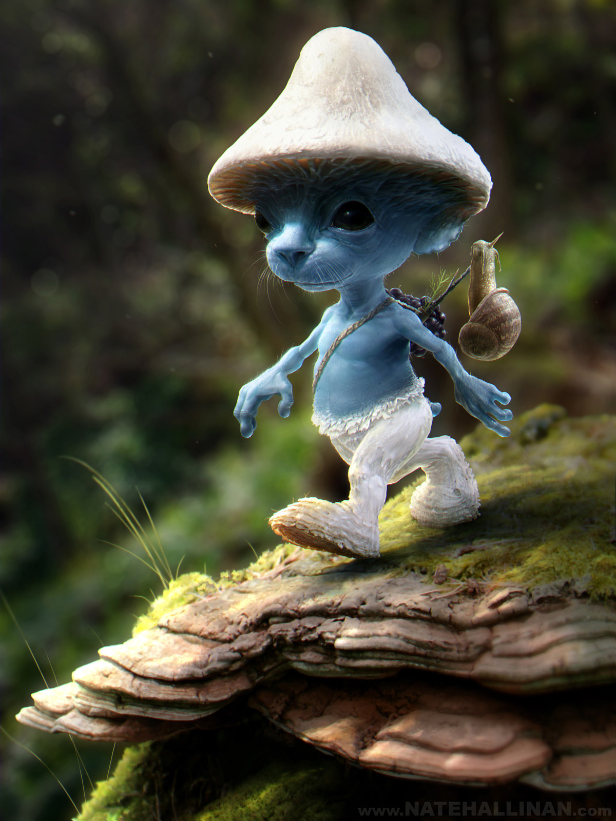 http://coolvibe.com/wp-content/uploads/2011/09/3d-art-Nate-Hallinan-Smurf-Sighting.jpg