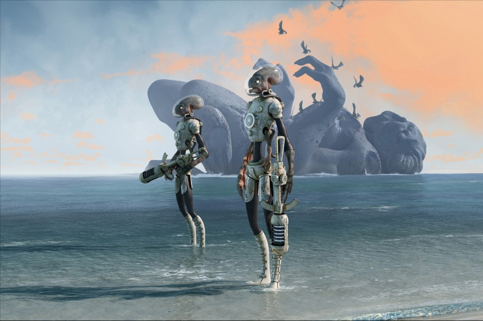 Wallpaper The Chase 3d Concept Art Digital Paintings