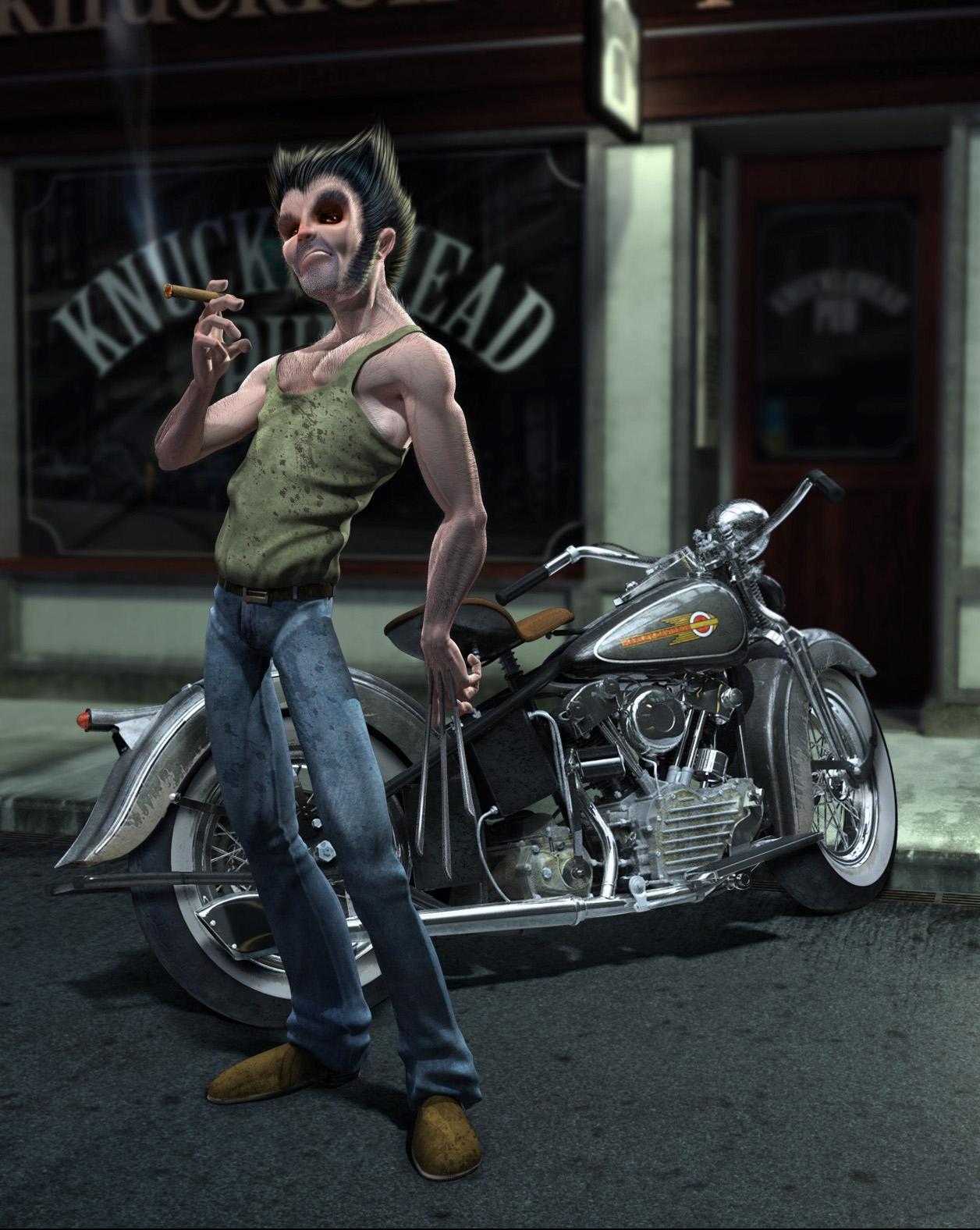 3d Portrait Wolverine Concept Art