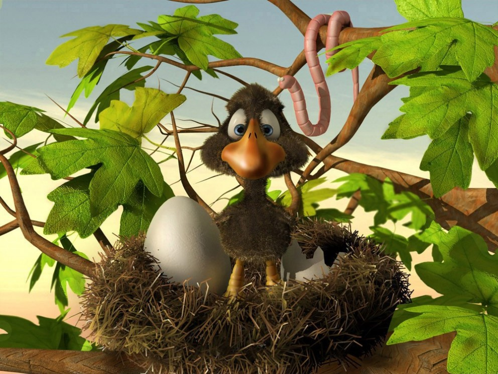 Cartoon Art: Bird - 3D, Concept art, IllustrationsCoolvibe ...