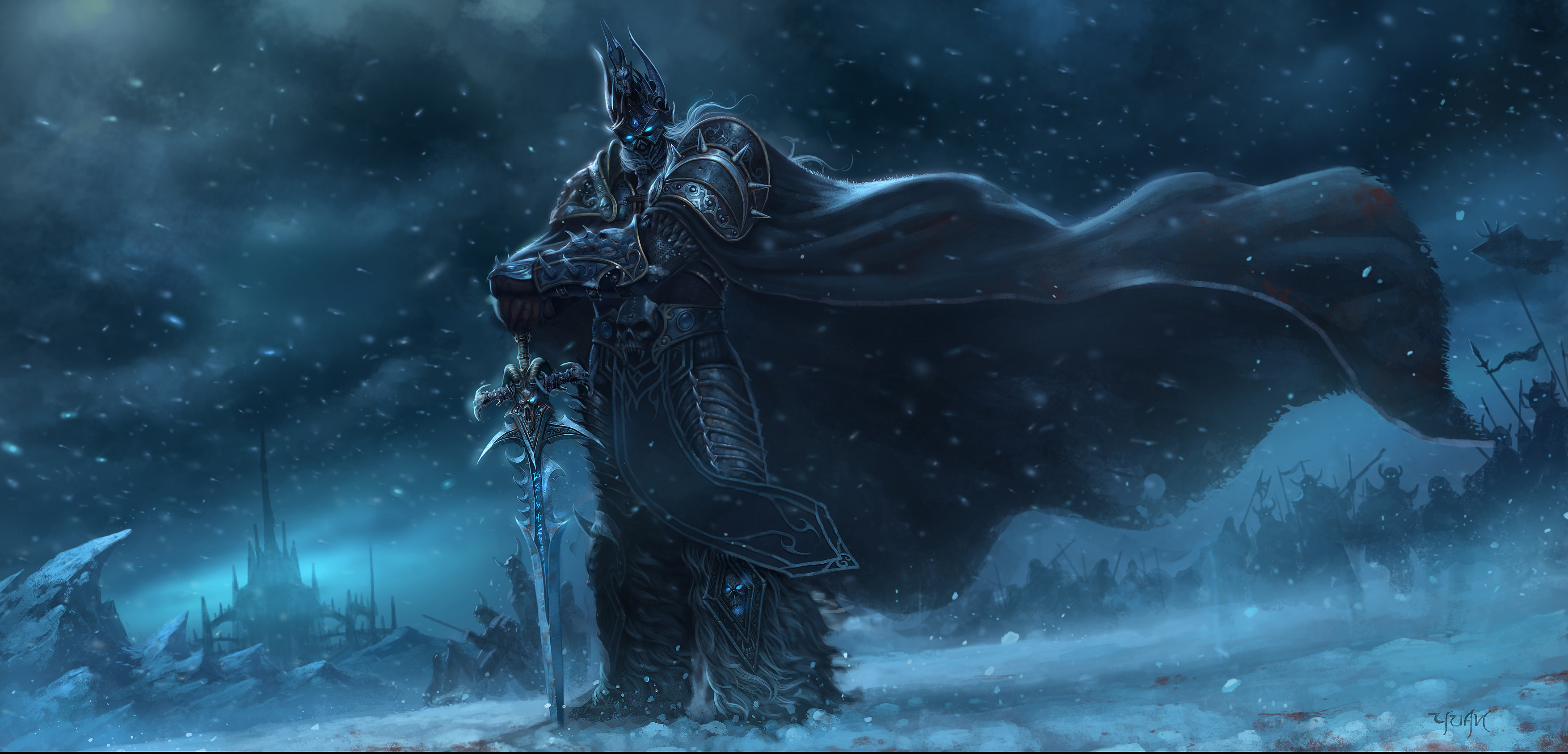 Wallpaper Arthas Menethil The Lich King 2d Digital