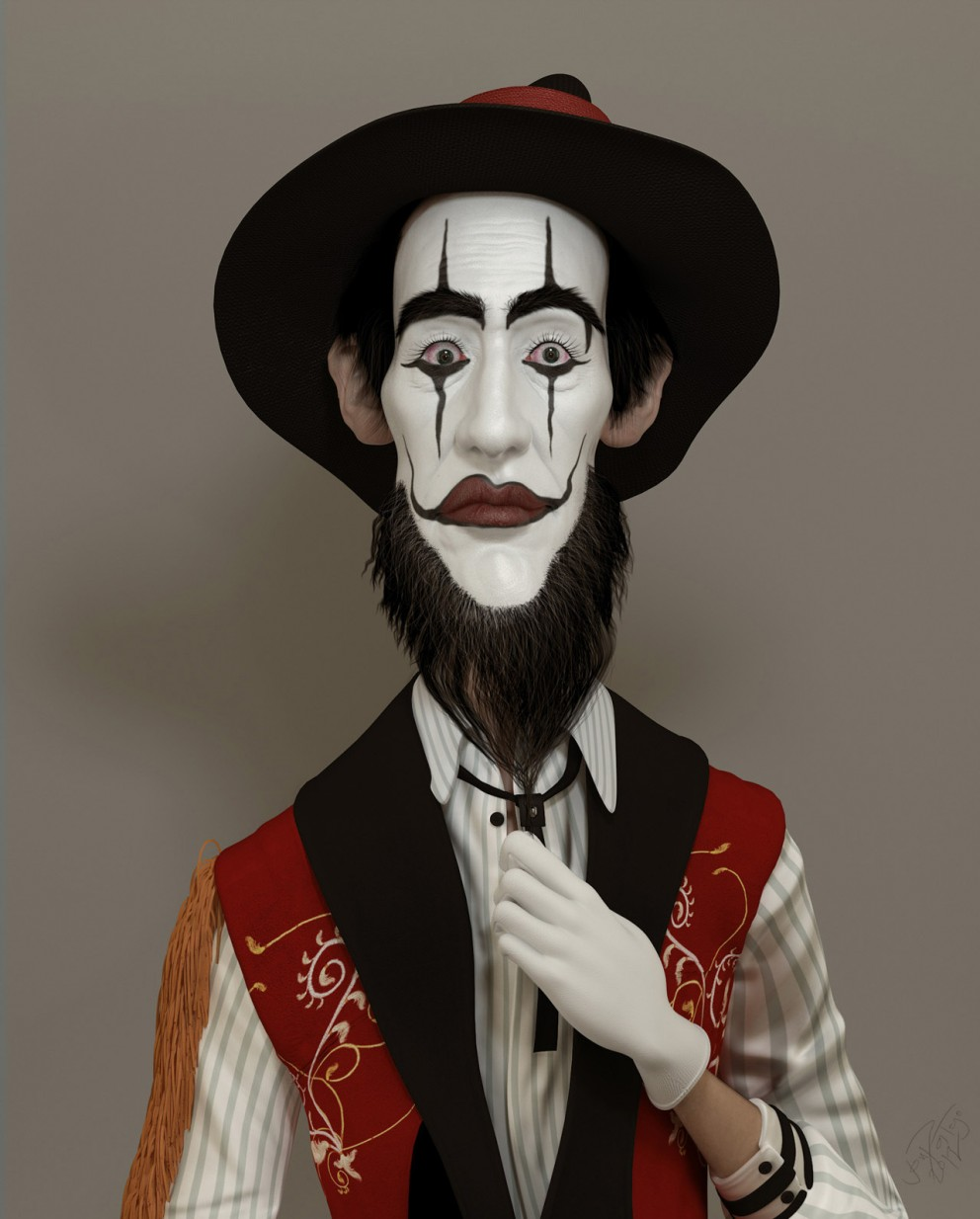 3D Art: Mime Guy