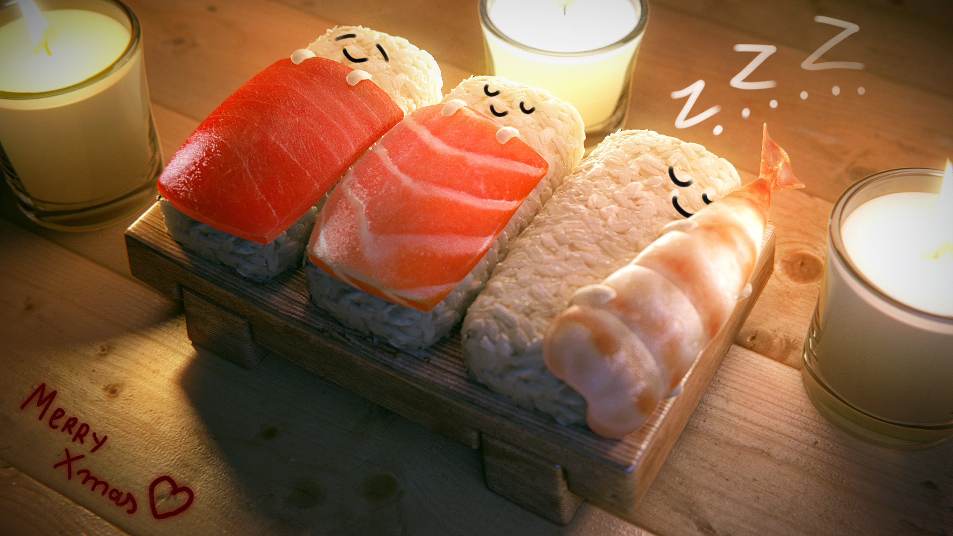 Sushi Wallpaper Anime