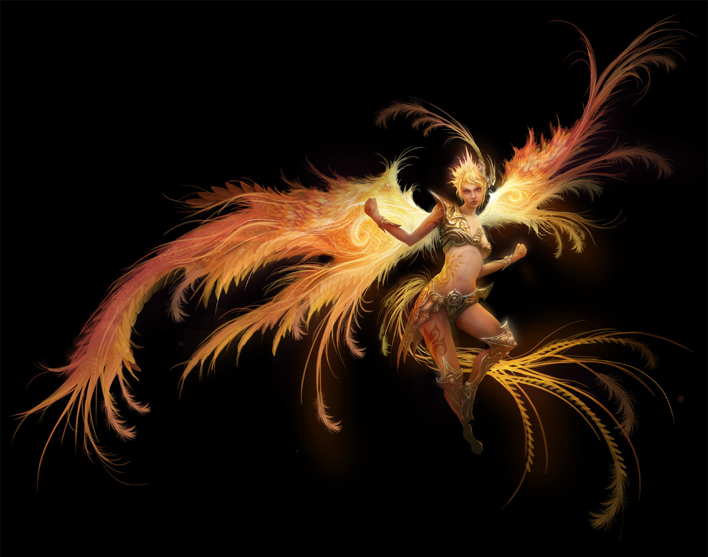 Concept Art Iron Phoenix 2d Digital Concept Art Fantasy