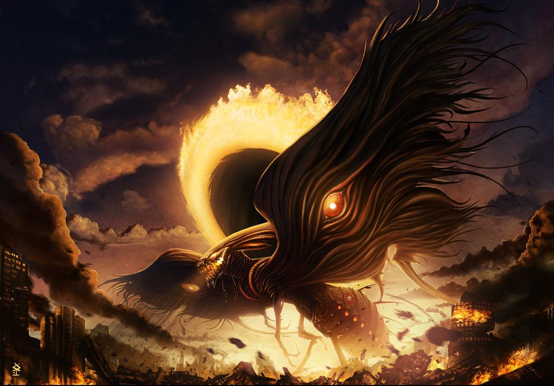Fantasy God Of Death 2d Digital Concept Art Fantasy Illustrations Photoshopcoolvibe Digital Art