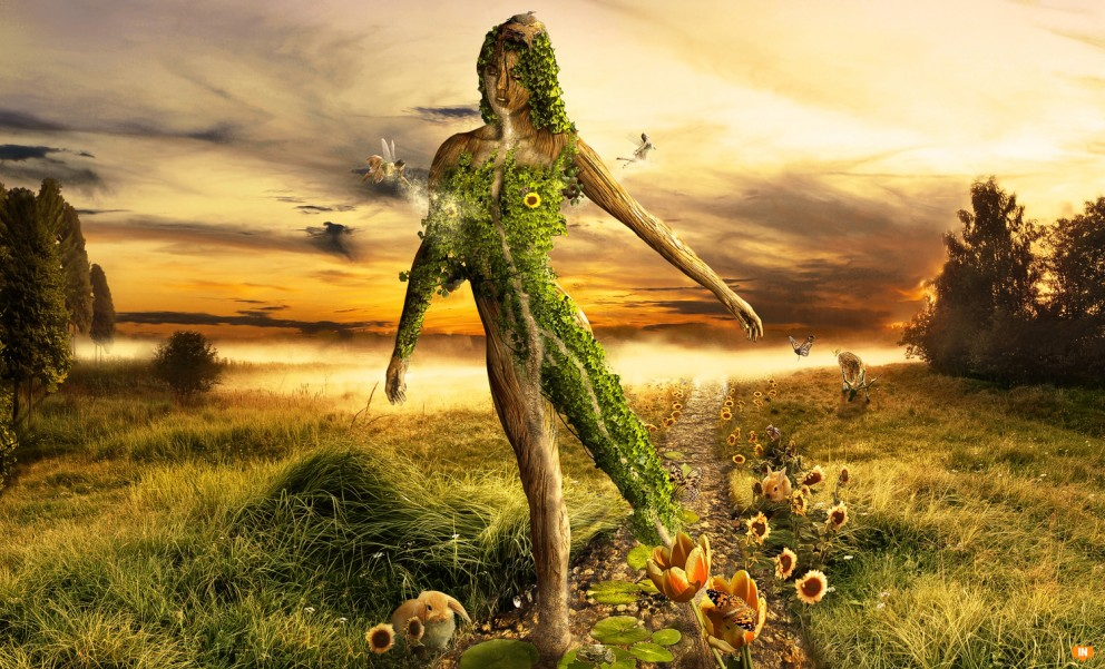 Concept art mother nature 3d concept art fantasy for Artiste nature