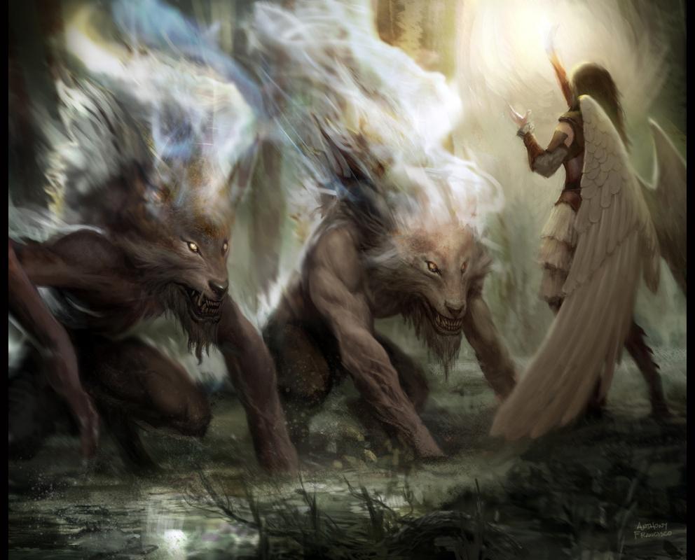Werewolf vs weretiger - photo#51