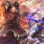 Fantasy Lin Zhou Fighting with Hero and Boss