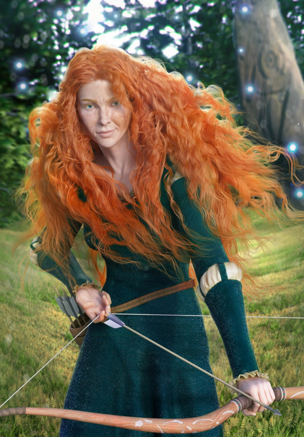 Portrait Merida 3d Concept Art Photoshop