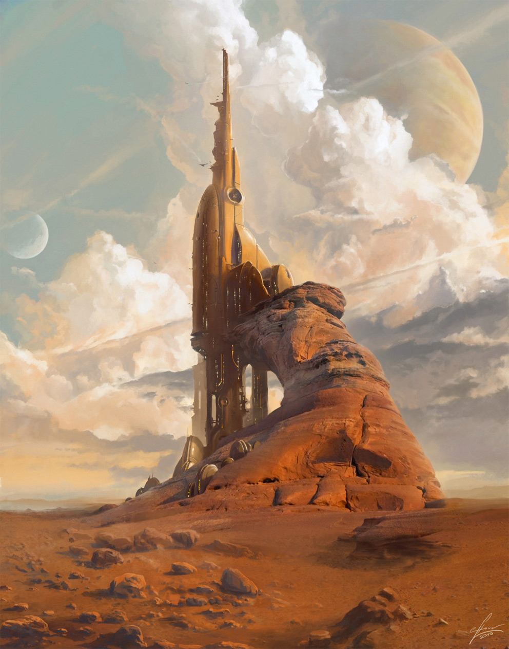 Sci Fi Stronghold : Sci fi art stronghold d digital paintings