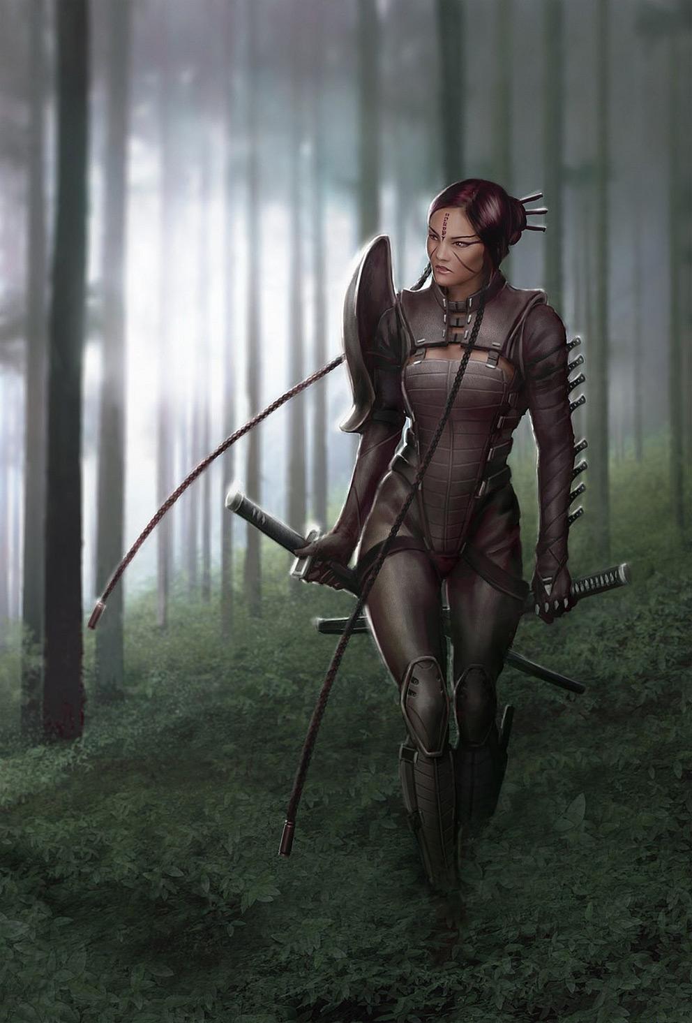 Fantasy Art Ninja Girl