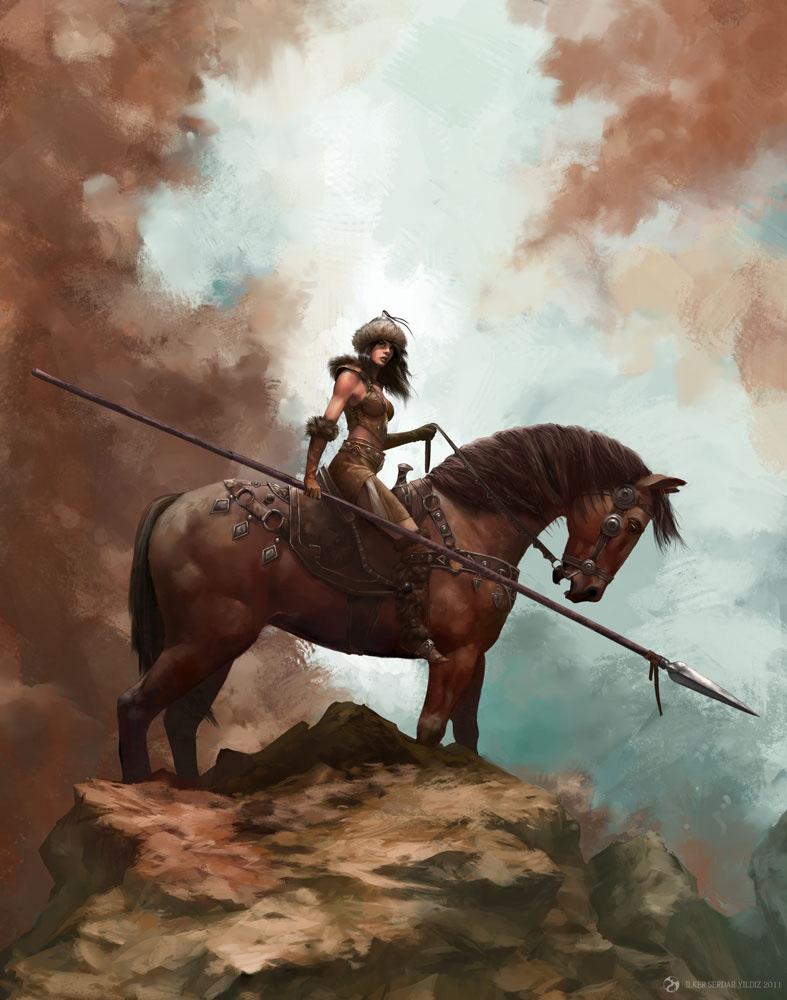 Horse coolvibe digital artcoolvibe digital art - Fantasy female warrior artwork ...