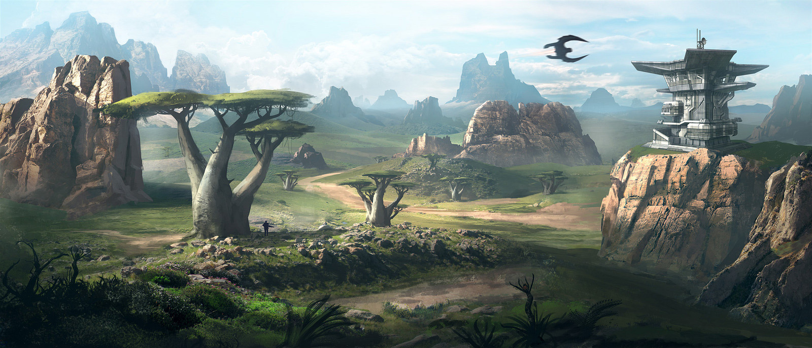 Concept Art: Environment Concept - 2D Digital, Concept art ...