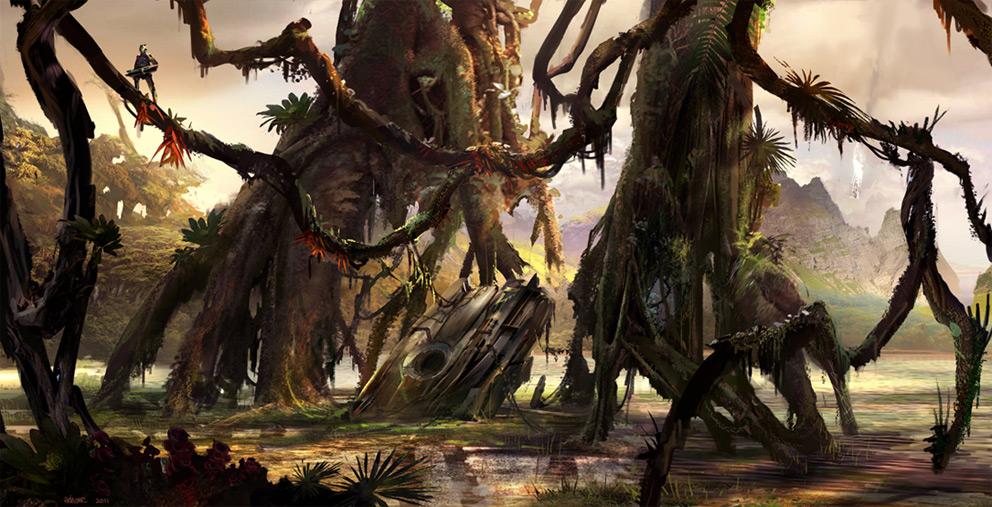 DeathFist 2D-Art-Ioan-Dumitrescu-Alien-Planet-Crash